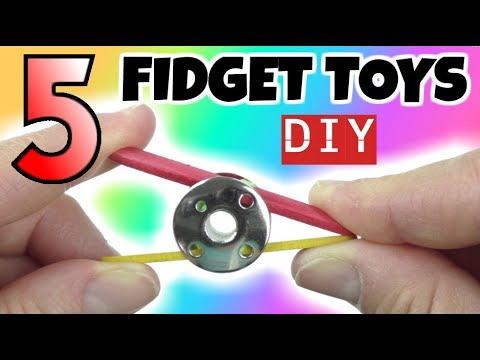 5 EASY DIYS - DIY FIDGET TOYS - HOW TO MAKE EASY TOYS FOR KIDS - HOUSEHOLD ITEMS- FUN DIYS