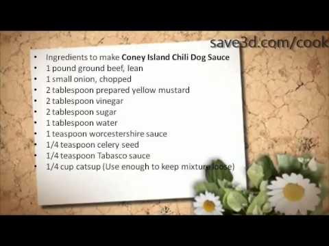 Coney Island Hot Dog Chili Sauce Recipe