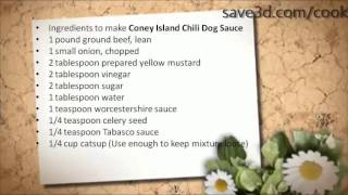 Secret Recipe - How to make Coney Island Chili Dog Sauce (Copycat Recipes)