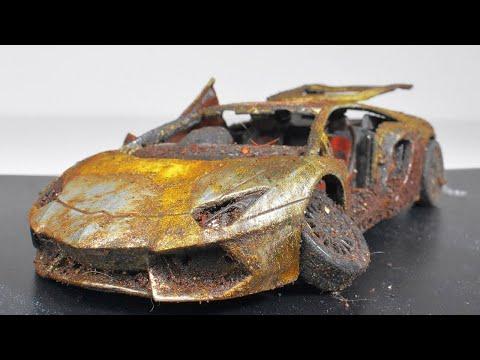 Restoration Abandoned Lamborghini Aventador Model Car