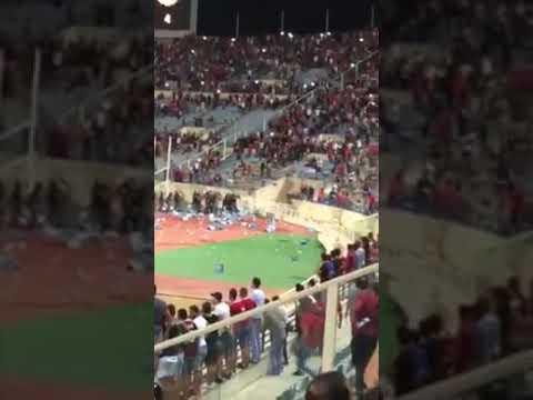 جمهور النجمة يكسر ملعب الرياضي destruction of sport fields in Lebanon