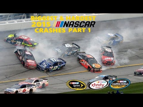 Biggest & Hardest NASCAR Crashes Of 2015 (Part 1)