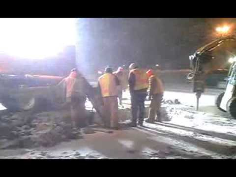 Waukegan Public Works - Water Main Break Emergency Repair Crew