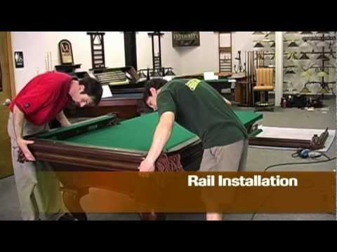 Pool Table Assembly YouTube - Brunswick ambassador pool table