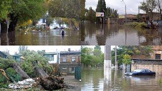 Последствия шторма в Одессе: Пересыпь затоплена и завалена деревьями(В результате вчерашнего шторма в Одессе в районе Пересыпского моста затопило и завалило деревьями улицу..., 2016-10-13T11:10:21.000Z)