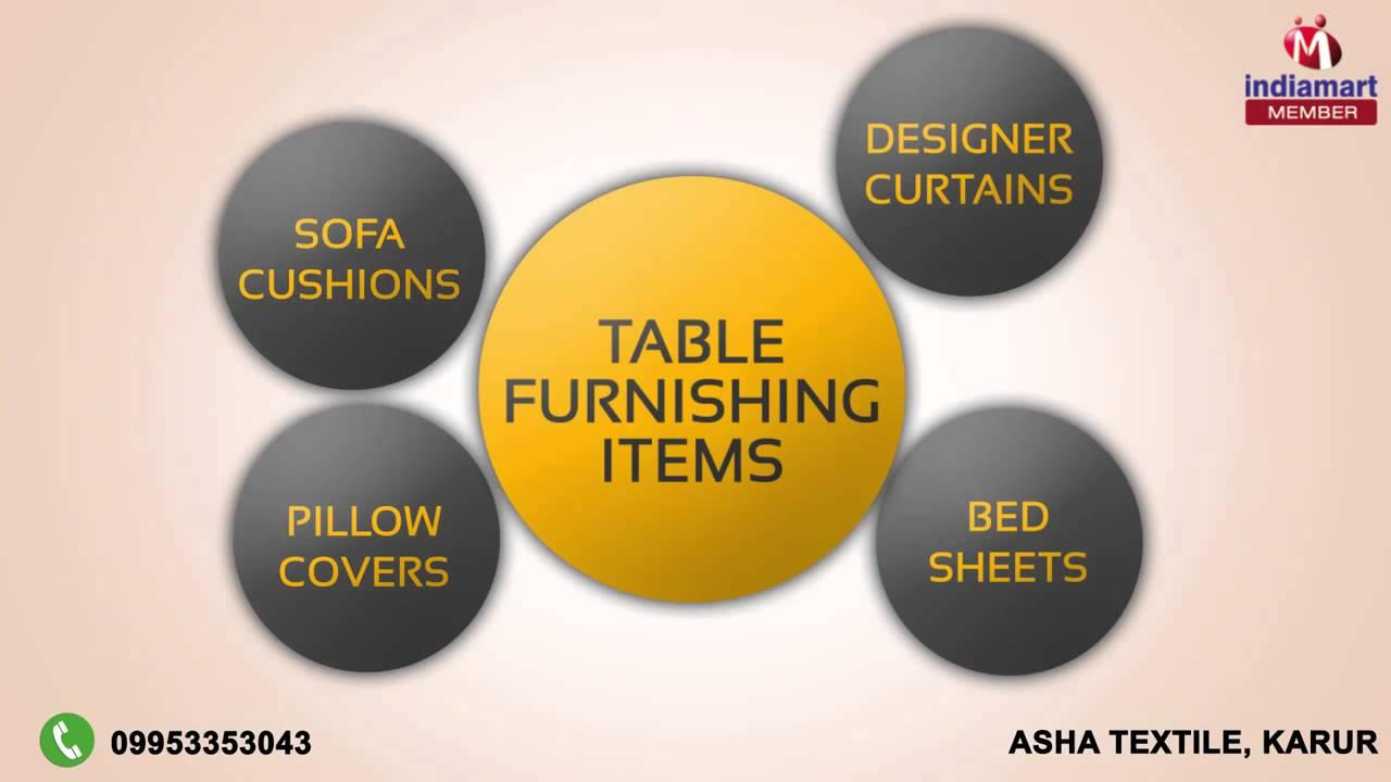 Textile Goods by Asha Textile, Karur