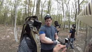 demolishing a cheater caught on camera at skirmish paintball