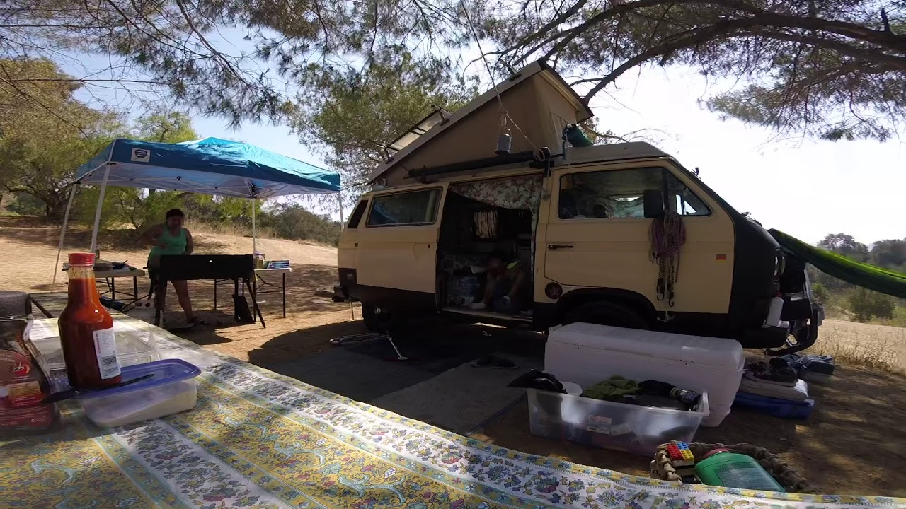 Repeat Camping in the Vanagon! Lake Casitas Ca  by Solo