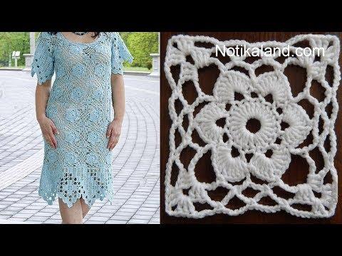 How To Crochet Easy For Beginners Crochet Motif Dress Pattern Youtube