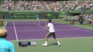 Federer Racket Smash vs. Djokovic Miami 2009