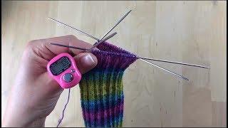 Как связать носки  Вяжем манжет носка  Урок 2