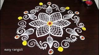 New varalakshmi vratham muggulu rangoli designs * easy & simple friday kolam for beginners