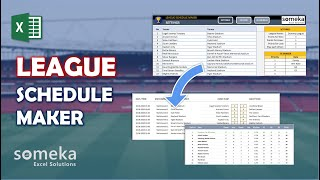 League Schedule Maker Excel Template | Excel League Table Spreadsheet screenshot 5