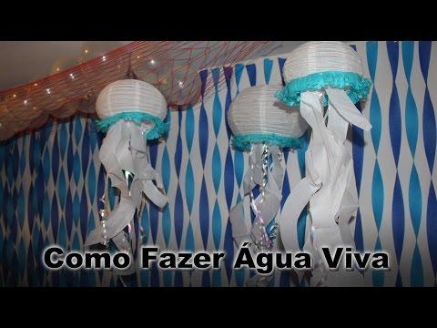 Decoração para festa - Agua Viva - Fundo do mar