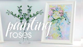ПИШУ РОЗЫ МАСЛОМ Painting Roses with Oil     Alice Wood Artist