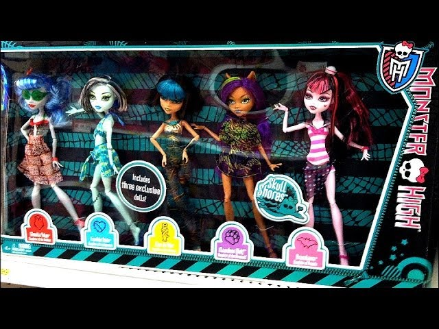 Novas Bonecas Monster High Frankie Stein Draculaura Clawdeen Wolf Howleen Wolf Cleo de Nile Travel Video