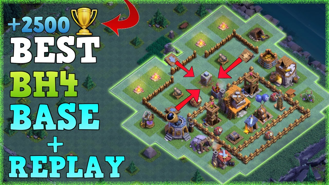 Best builder hall 4 base w proof coc bh4 anti 2 star Best builder house 4 base