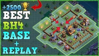 Best Builder Hall 4 Base w/ PROOF / CoC BH4 Anti 2 Star Builder Base Layout | Clash of Clans