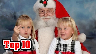 Top 10 Hilarious Pictures with Santa