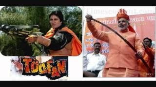 Toofan - Amitabh Bachchan - Narendra  Modi