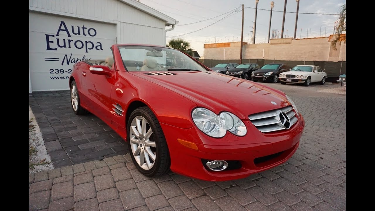 This 2007 Mercedes Benz Sl550 Roadster Was A Horsepower Upgrade Over The Previous R230 Sl500 Youtube