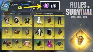 Trading 131 Remodels Tickets for 100+ Epic Shards and Many More - Rules of Survival Lucky Pull