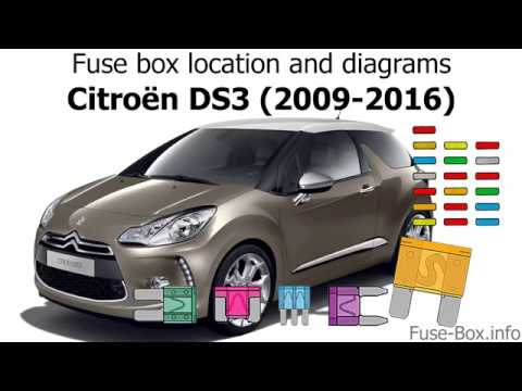Fuse box location and diagrams: Citroen DS3 (2009-2016) - YouTube | Citroen C3 Fuse Box Manual |  | YouTube