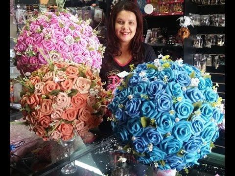 Arranjo de Rosas em EVA  Topiaria  YouTube