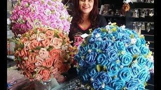 Arranjo de Rosas em EVA – Topiaria