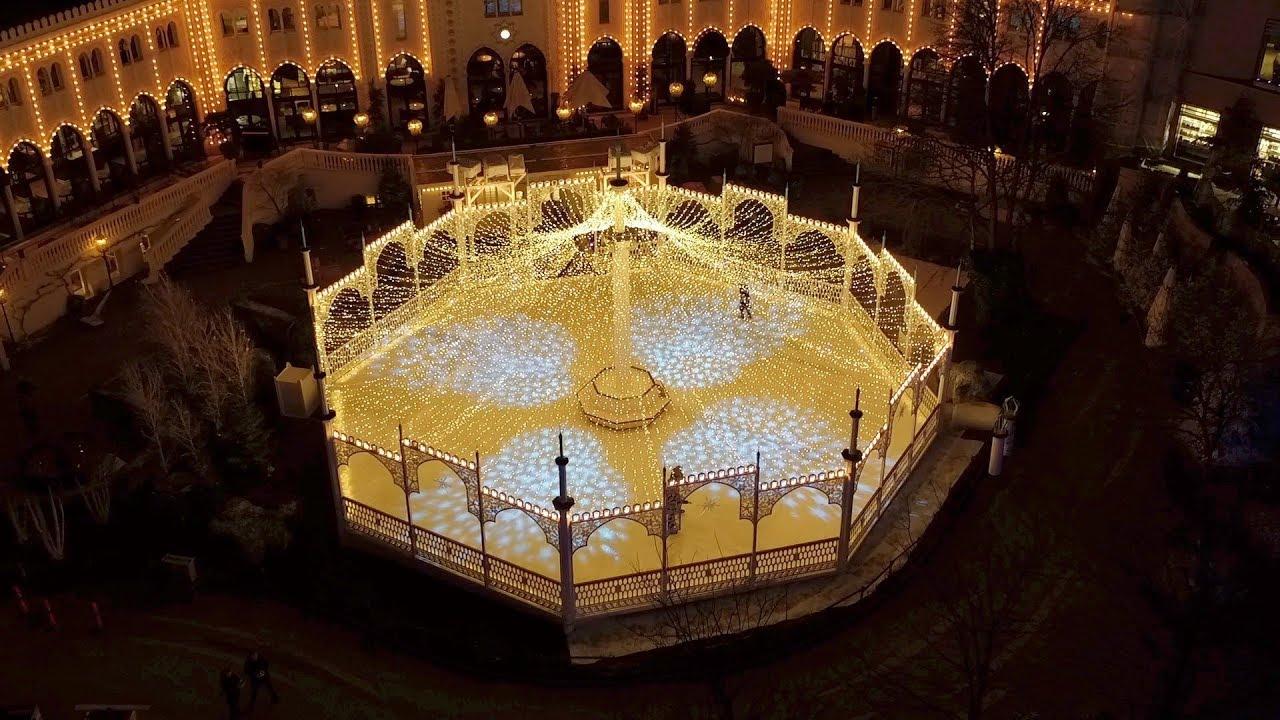 Spectacular Lights At Winter In Tivoli Gardens Copenhagen Youtube