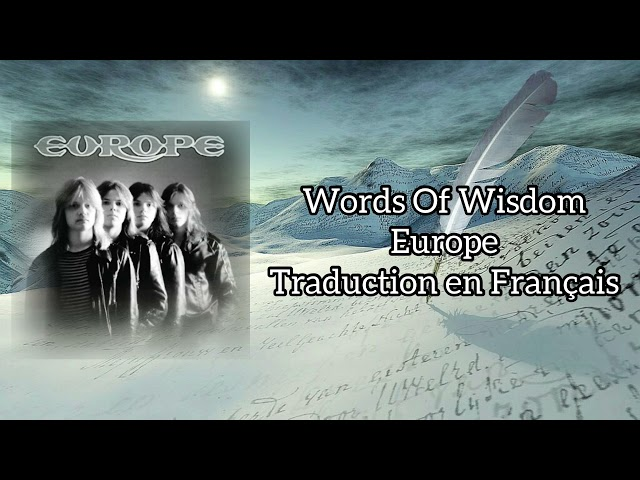 Words Of Wisdom - Europe - Traduction en Français