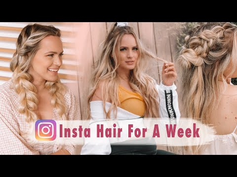 I Tried Instagram Hairstyles for A Week! - Kayley Melissa thumbnail