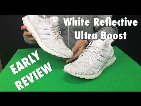 aeea1752ff0cc Ultra Boost White Reflective Early Review + On-Foot Look - YouTube