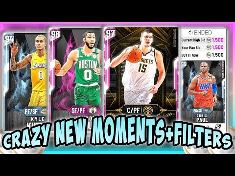 NBA2K20 CRAZY NEW MOMENTS - PD TATUM, CP3 AND KUZMA!!! BEST FILTERS TO USE TO MAKE MT AND FINISH SET