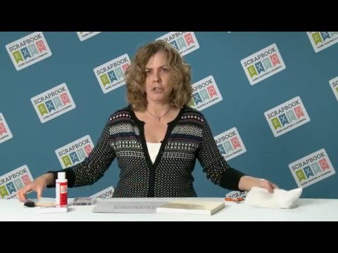 Tip of the Day:  Stamping on Tissue Paper from Stamp & Scrapbook Expo