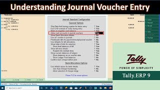 Understanding Journal Voucher Entries in Tally ERP 9 Tutorial - Lesson 7
