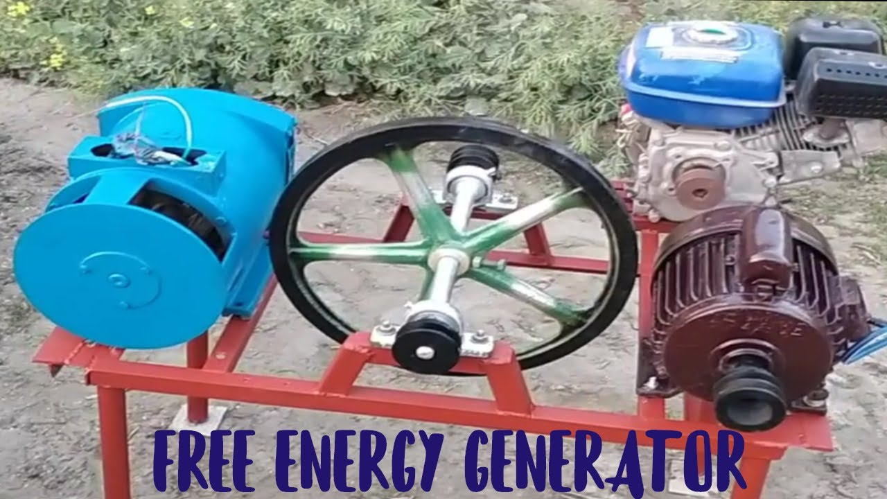 How To Make Free Energy Generator 220V with 5 Kw Generator And 2 Hp 220V Motor New Experiment
