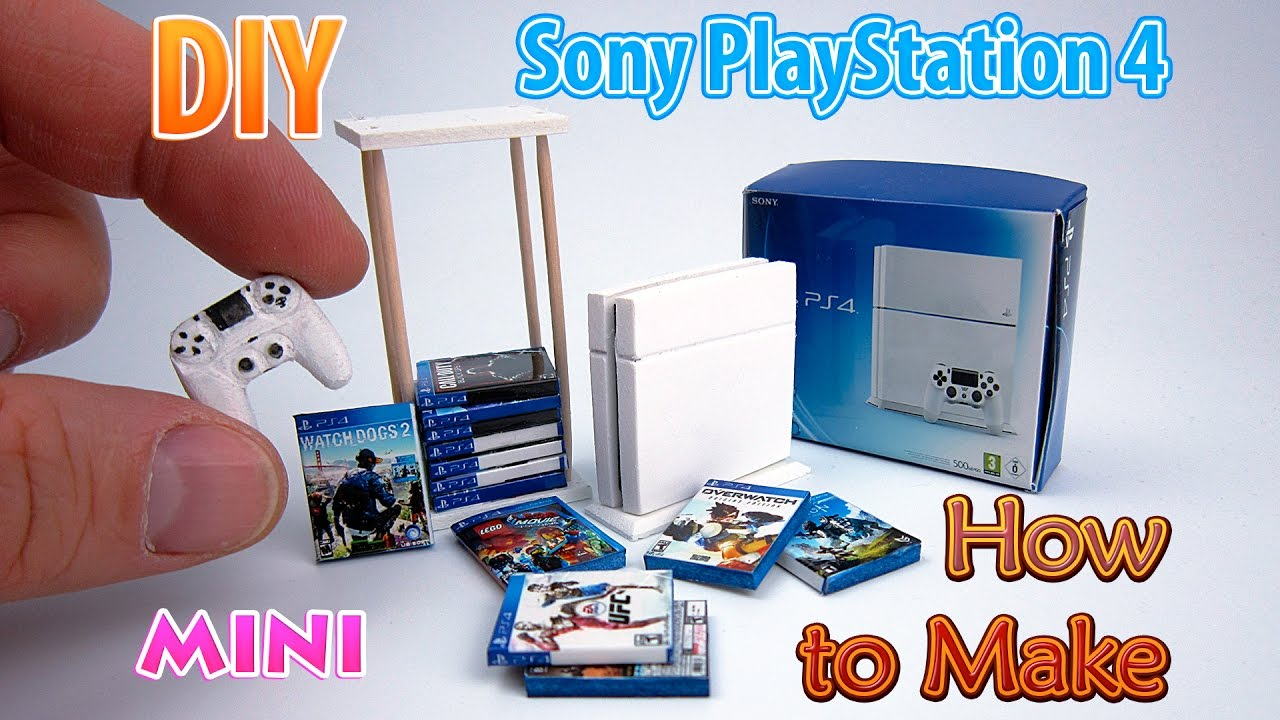 Diy Realistic Miniature Ps4 Console Dollhouse Youtube