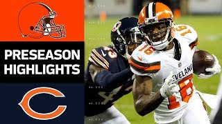 Browns vs. Bears | NFL Preseason Week 4 Game Highlights