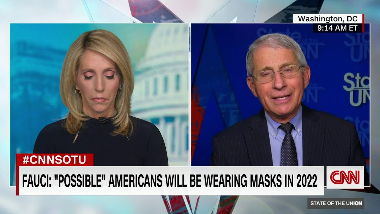 Fauci confirms that we will still be wearing Face masks in 2022