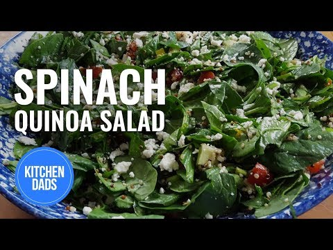 How to Make a Quinoa Salad | Quinoa Spinach Salad | Kitchen Dads Cooking