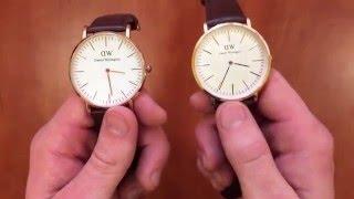 распаковка, обзор и сравнение часов replica Daniel Wellington с AliExpress