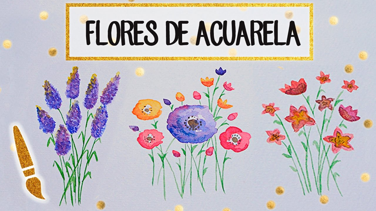 Aprende A Dibujar Flores De Acuarela A Dibujar 05 Youtube