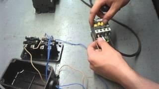 видео как подключить магнитный пускатель на 220в