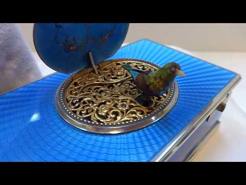 Antique Flajoulot Paris France singing bird box automaton