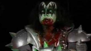 Gene Simmons Spitting Blood In Farewell Tour
