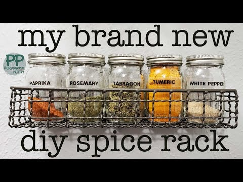 Diy Spice Rack From Hobby Lobby Target 4 Oz Ball Canning Jars For Spices Youtube