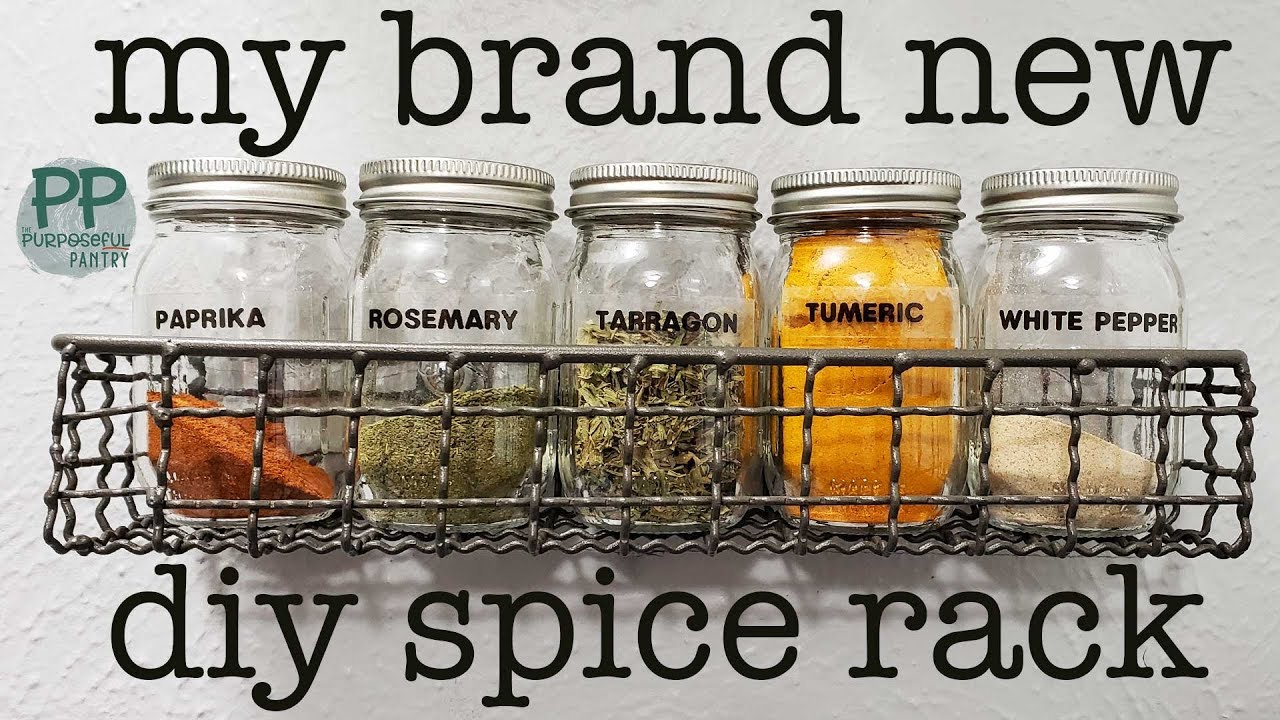 diy spice rack from hobby lobby target 4 oz ball canning jars for spices