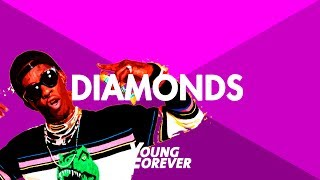 "Young thug x money man quavo type beat ""diamonds"" / trap rap instrumental 2017 