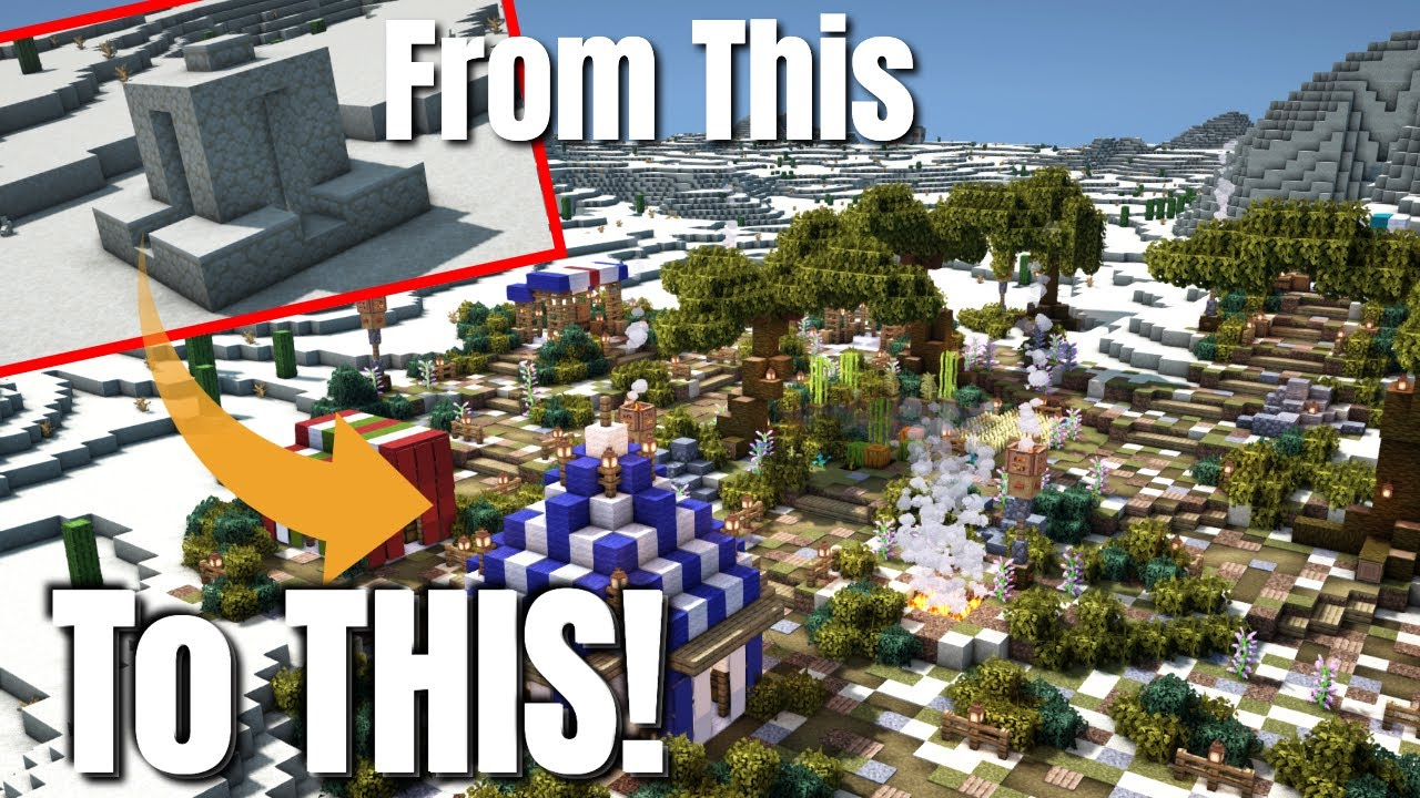 Minecraft Transformation | Creating an Oasis from a Desert Well (World Download Bedrock & Java)